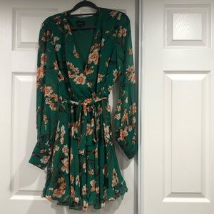 Bardot green floral dress